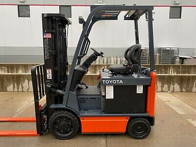 2014 Toyota 8fbcu25 5000lb Cap 4 Wheel Compact Forklift Lifttruck Compact