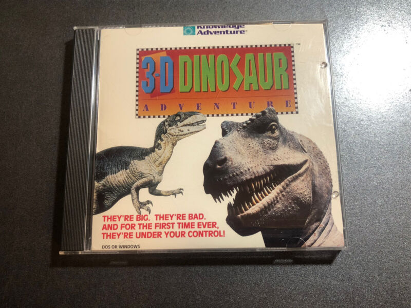3-D Dinosaur adventure PC CD ROM For DOS Or Windows ~ Knowledge Adventure Game