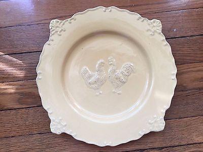 Jane Adams  embossed  Rooster dinner plate Sweet Olive Designs