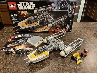 LEGO Star Wars Rebel Y-Wing Fighter 75172 Used 100% Complete & Clean 691 pcs