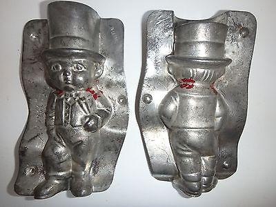 XRARE ANTIKE Schokoladenform BRÄUTIGAM  antique chocolate mold A.REICHE # 22391