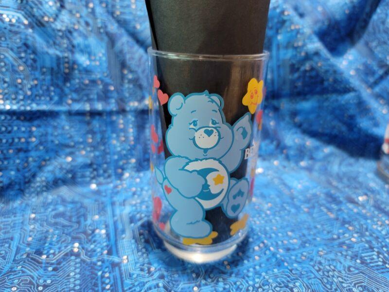 Vintage 1986 Care Bears Tumbler Glass Collectable Original Bedtime Bear med size