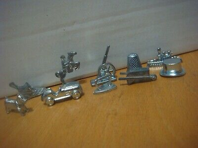 Monopoly Complete Set Of 10 Modern Metal Playing Pieces Tokens Counters