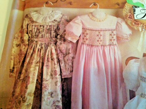 VTG Simplicity 7400 Sz 3-8 Sewin Pattern Dress Heirloom Smocking Empire UNCUT 2F