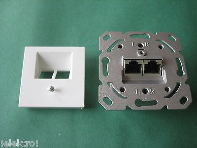 CAT.6 Netzwerkdose Datendose +original Jung Abdeckung A569-2BFWW AS500 alpin ws