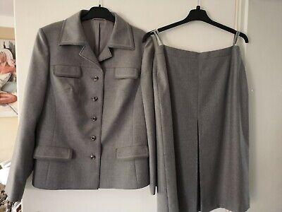 Business Damen-Kostüm, Rock, Blazer, grau, Größe 42, del mod international