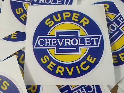 - 2 Chevrolet Super Service decals sticker garage tool box old school vintage