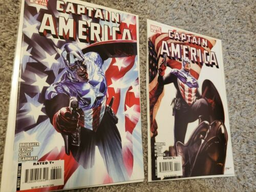 Captain America 34 Cover A&B, Marvel 2008, Ross, Bucky Winter Soldier