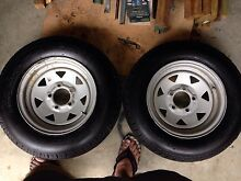 2 x 13 inch Ford galvanised Sunraysia style wheels Bald Hills Brisbane North East Preview