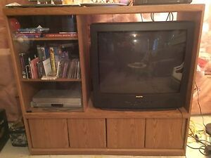 "Entertainment Unit with 32"" Television - $50.00"