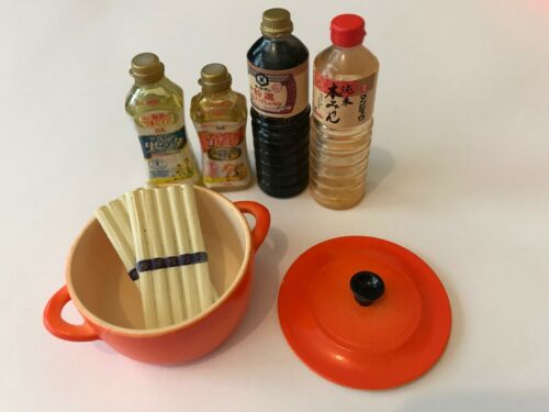 RARE! Re-Ment Miniature Dollhouse Kitchen Oil/Japan Sauce/Europe Style Pot - NEW