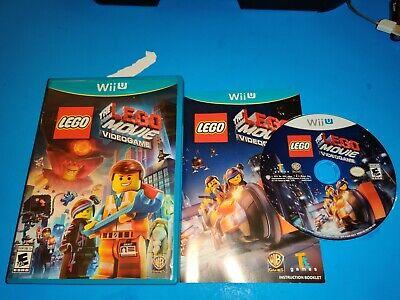LEGO THE LEGO MOVIE VIDEOGAME COMPLETE (NINTENDO WII U 2014)VG SHAPE & TESTED
