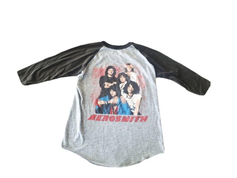Vtg Aerosmith Back In The Saddle Tour Shirt 84-85 Womens Large Made in Usa Rare
