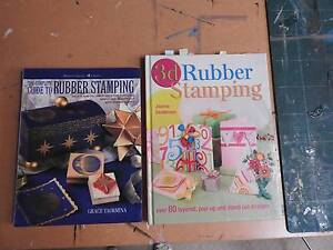 Rubber Stamping Craft Books (2) Riverglades Murray Bridge Area Preview