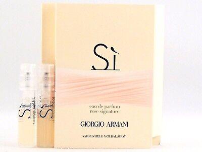 GIORGIO ARMANI SI ROSE SIGNATURE EDP 1.5ml .05fl oz x 2 PERFUME SPRAY SAMPLES