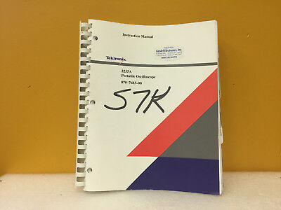 Tektronix 070-7683-00 2235a Portable Oscilloscope Instruction Manual