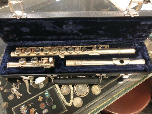 Haynes Vintage Silver Flute circa 1919 w/ Case NICE Navy
