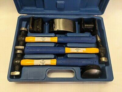 Cummins International 7 Piece Auto Body Repair Tools Kit Hammers Dollies Case