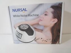 NURSAL White Noise Machine, Sleep Sound Alarm Clock w/ 8 Soothing Sounds, Spa