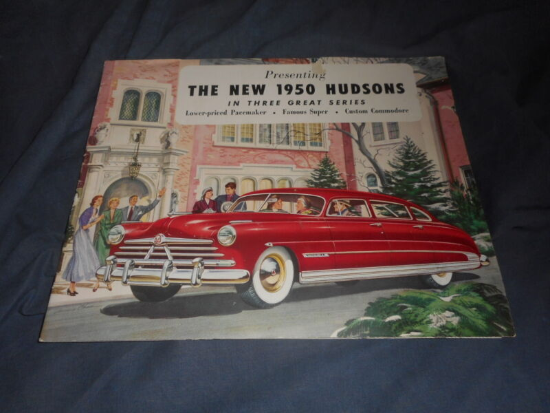 1950 Hudson Commodore 6 & 8 Super 6 Pacemaker color Brochure Catalog Prospekt