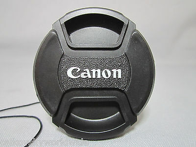 58mm Snap-on Lens Cap Cover with Cord strap for canon eos ef camera slr dslr