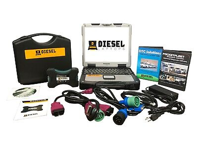 Universal Diesel Truck Diagnostic Tool Scanner Laptop Kit