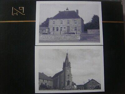 Lot 2 cartes rare de PESCHE ( Couvin ) 2010 -Ancienne maison communale/Centre