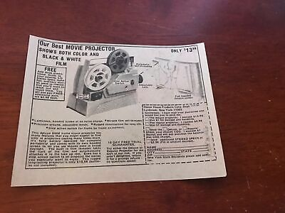 1977 VINTAGE 5X6.5 COMIC PRINT AD FOR HONOR HOUSE BEST MOVIE PROJECTOR COLOR