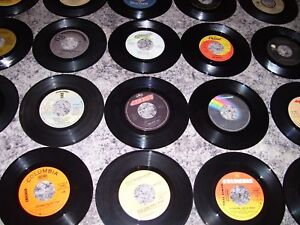 Lot #6 = of  50  Vinyl  Records  (45 RPM), Hits  from the 60's,7