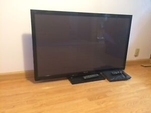 "50"" Panasonic Flat Screen & Blueray Player"