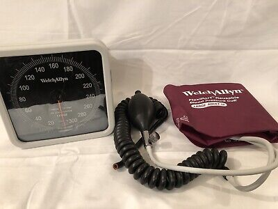 Welch Allyn 0297 Blood Pressure Meter Sphygmomanometer Swivel Mount Cuff Pump