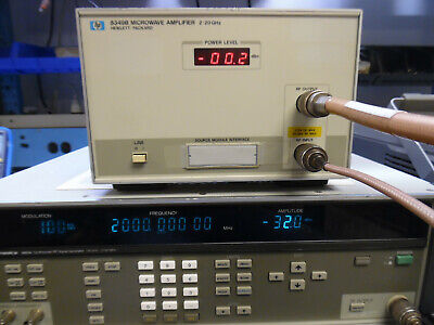 Hp Agilent Keysight 8349b Microwave Amplifier 2 To 20 Ghz - Tested