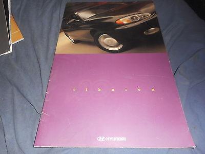 1997 Hyundia Tribion Tucsany USA Market Brochure Letter Catalog Prospekt