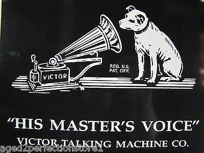 RCA Nipper Dog Sign porcelain/enamel 'His Master's Voice' Victor Talking Machine