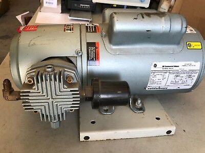 Used - Gast 5hcd-10-m551x Oil-less Piston Pump 34 Hp 1 Phase 110220v