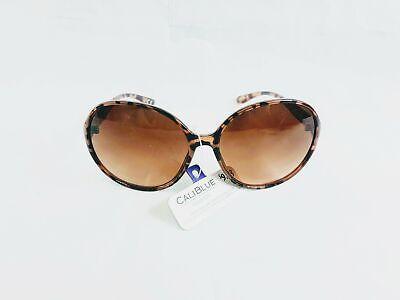 NEW Cali Blue Women's Bug Eye Round Print Frame (Cali Sunglasses)