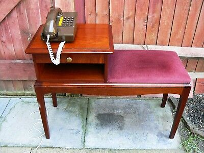 Vintage Telephone Seat Table with Writing Pad