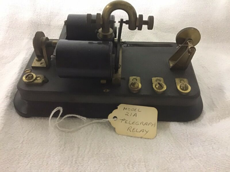 Antique Western Electric Telegraph Relay No 21 A, 100 OHMS, Vintage