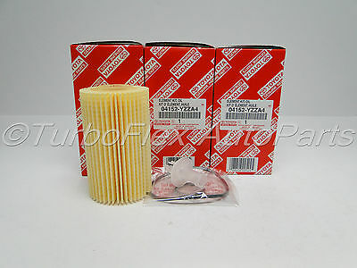 Toyota Genuine OEM Oil Filter 04152-YZZA4 Set of 3