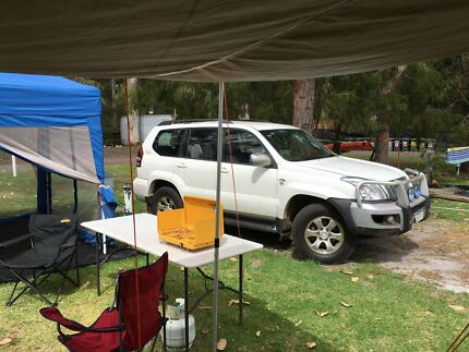 Toyota Prado and All my camping gear includes RV5 Oz tent