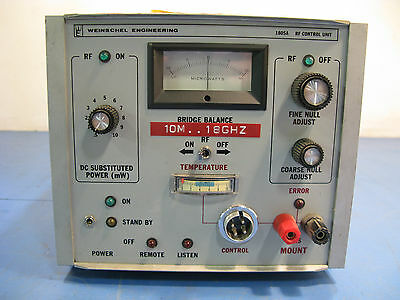Weinschel Engineering 1805a Rf Control Unit