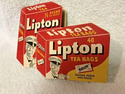 Rare Lipton Tea vintage advertising needle pack from Germany