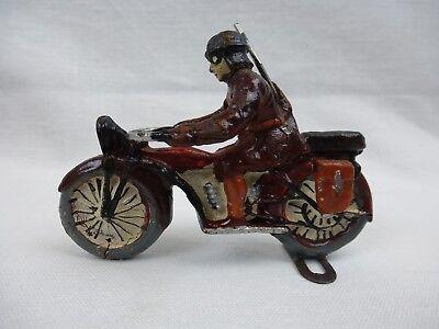 Gebraucht, Spielzeug Soldat ~ Soldat auf Motorrad ~ Kradfahrer ~ 2. Weltkrieg ~ Massefigur gebraucht kaufen  Rostock