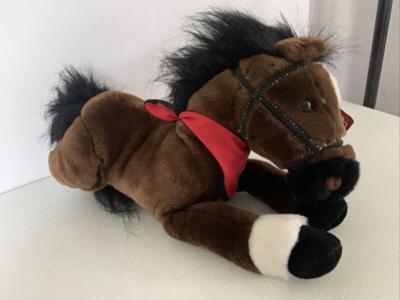 "Legendary Wells Fargo Plush ""Maggie"" Horse w/ Scarf - NEW Pony with tags 12 inch"