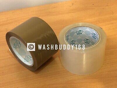 "6 Rolls Brown/Tan & Clear Mix 1.8 Mil 3"" X 110 Yards Carton Sealing Packing Tape"