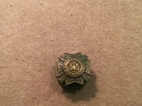 Vtg Genuine Bronze VETERANS OF FOREIGN WARS OF THE UNITED STATES ScrewBack Pin