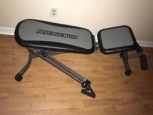 Adjustable exercise bench