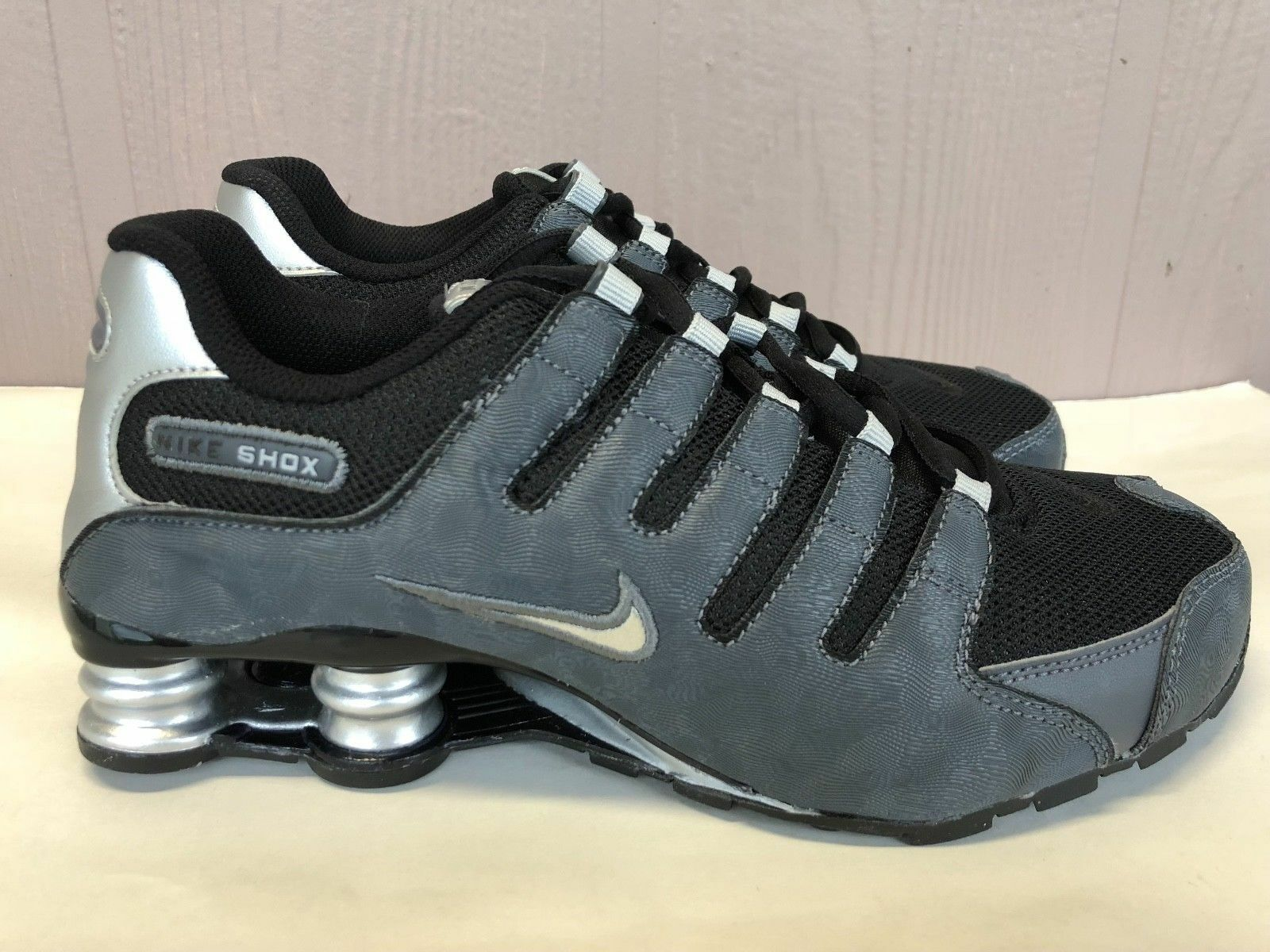 d46f1ab4 Details about Nike Shox NZ SI Plus Youth GS Running Shoes Gray Black  317929-029 Size 4.5Y