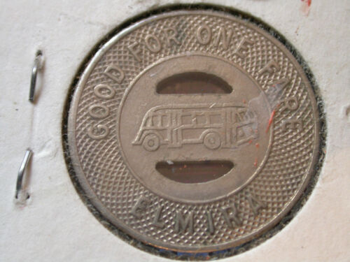 1944 N. Y. S. E. & G. Corp (Elmira, New York) transit token