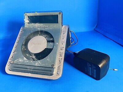 SONY Dream Machine ICF-CD855V CD Alarm Clock Radio Works Great!